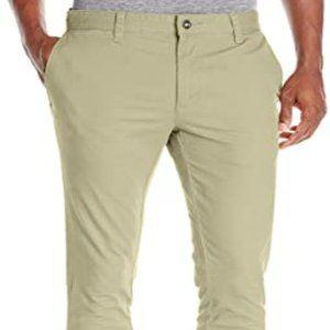 RVCA Stapler Chino Khaki Pants sz 36 Slim Leg